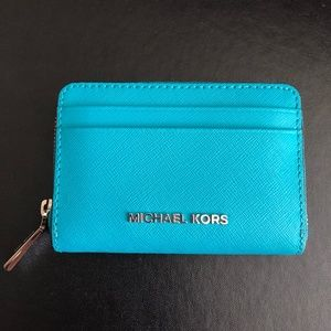 MICHAEL KORS Zip Around Leather Card Case